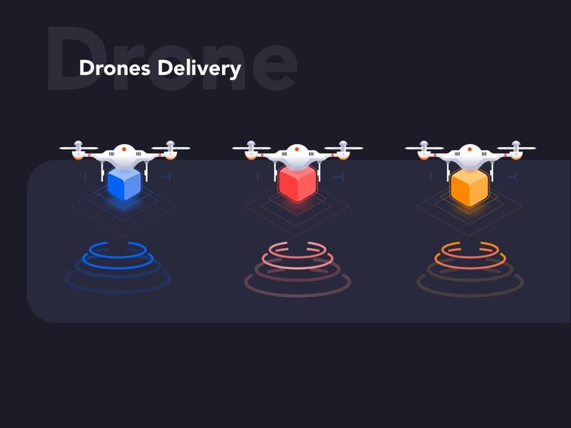 无人机插图交付应用程序