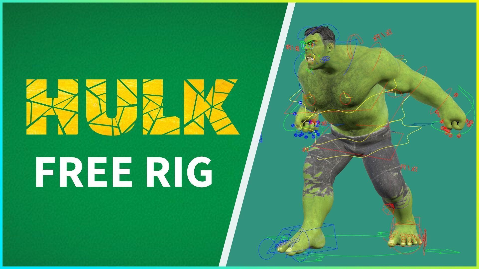 FREE HULK RIG 3D
