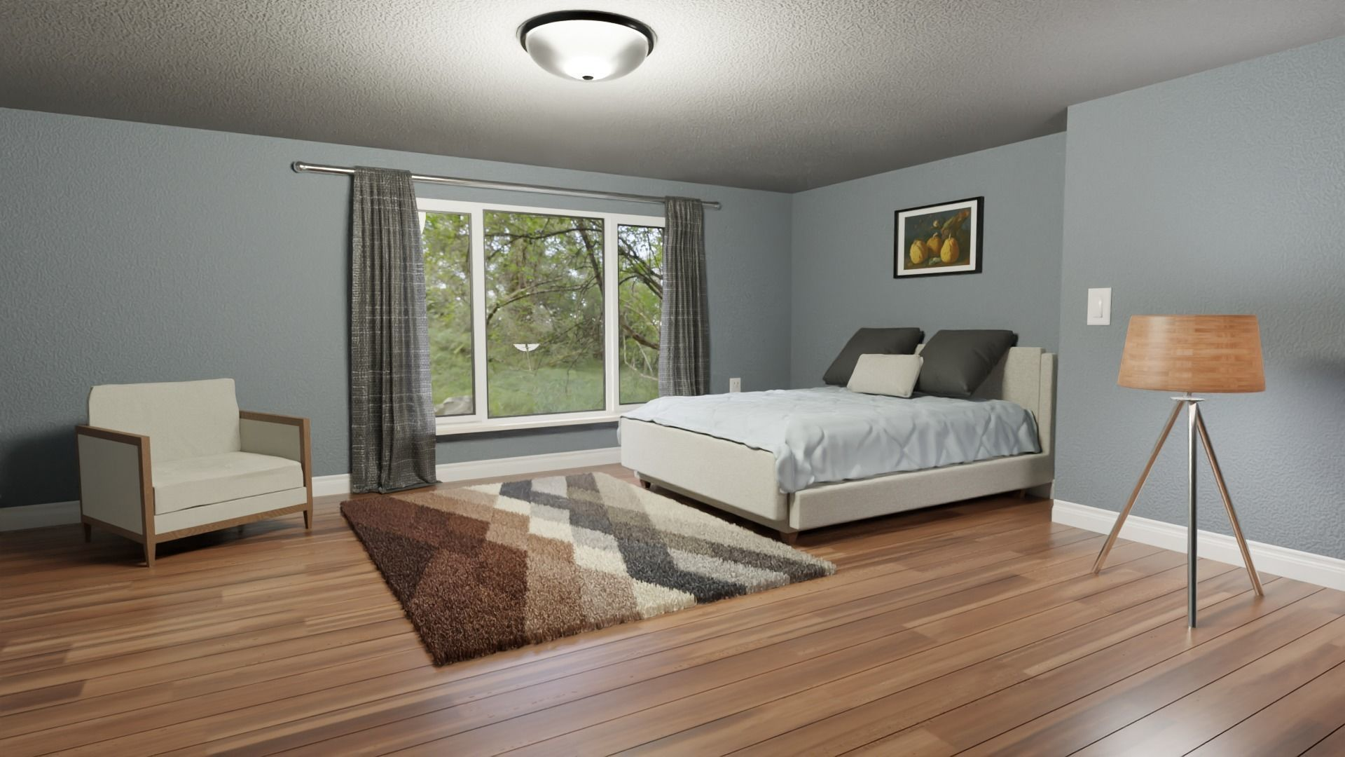 Realistic Bedroom